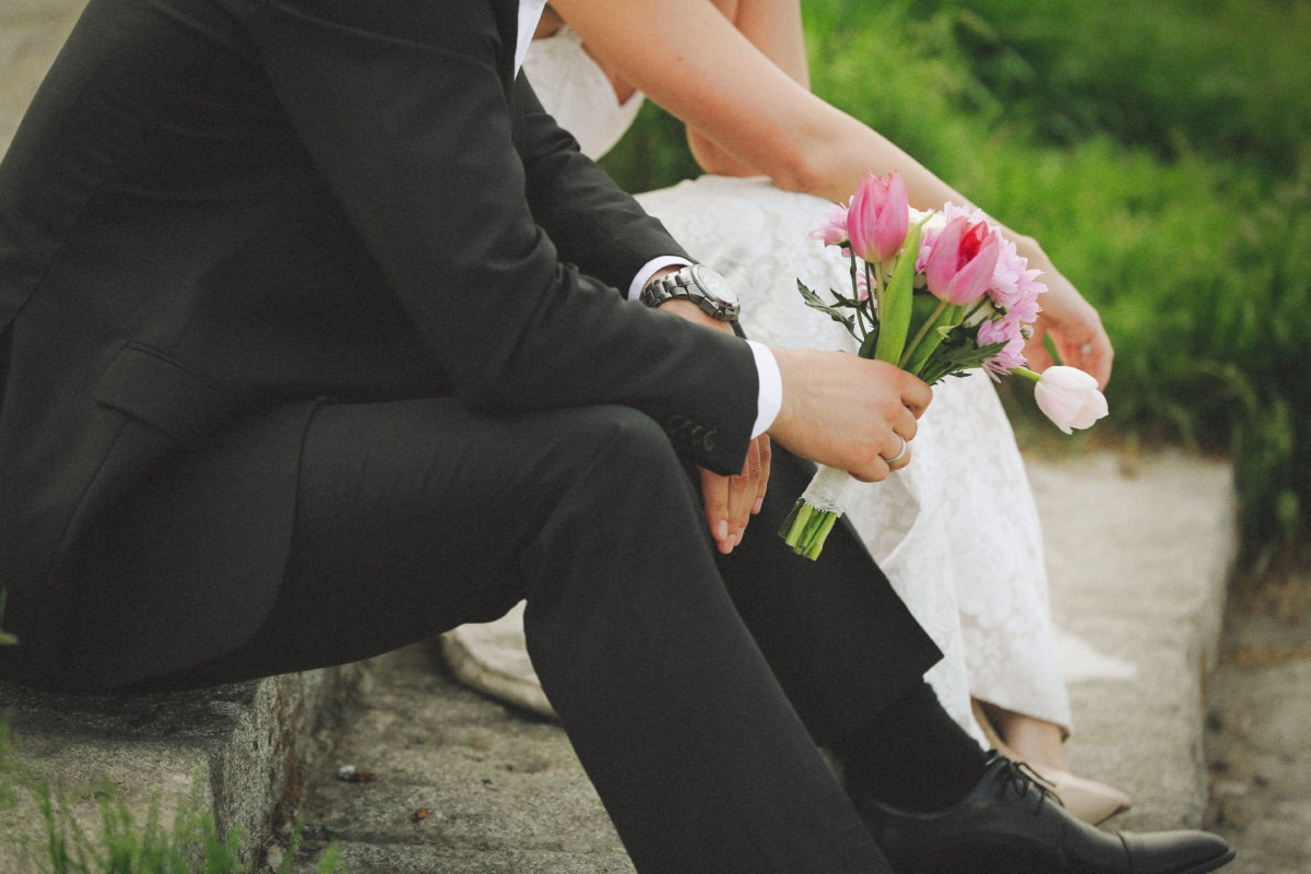bouquet, groom, woman, marriage, bride, couple, engagement, love, wedding, people