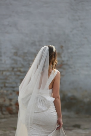ruha, elegancia, gyönyörű, csinos lány, fátyol, menyasszony, esküvő, nő, divat, lány