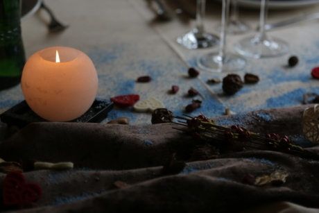 candle, candlelight, cotton, details, glass, interior, interior decoration, interior design, object, romantic