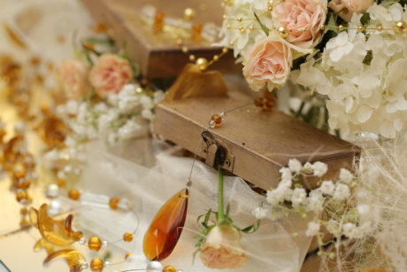 bouquet, box, decoration, jewelry, wedding, arrangement, nature, romance, love, flower