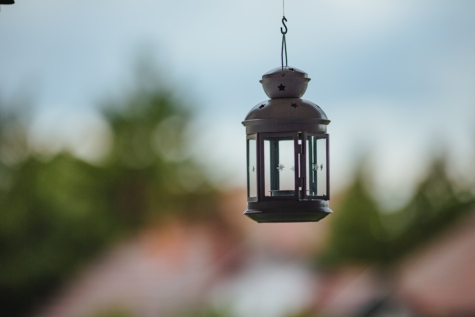 decorative, hanging, lantern, old, old fashioned, old style, device, outdoors, blur, nature