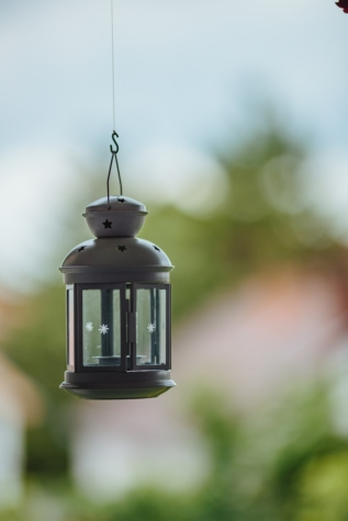 hanging, interior decoration, lamp, rope, outdoors, nature, blur, light, leaf, summer