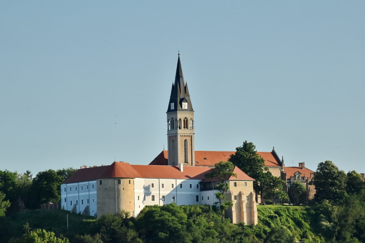 church tower, Croatia, hilltop, monastery, architecture, residence, house, religion, tower, church