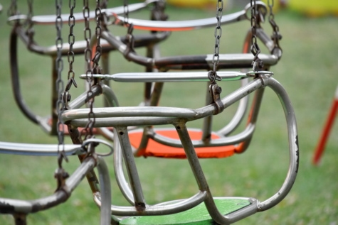 chairs, metallic, stainless steel, swing, iron, steel, outdoors, wire, equipment, summer