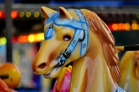 карнавал, карусель, цирк, барвистий, Кінь, пластикові, сяючий, іграшки, Вінтаж, механізм