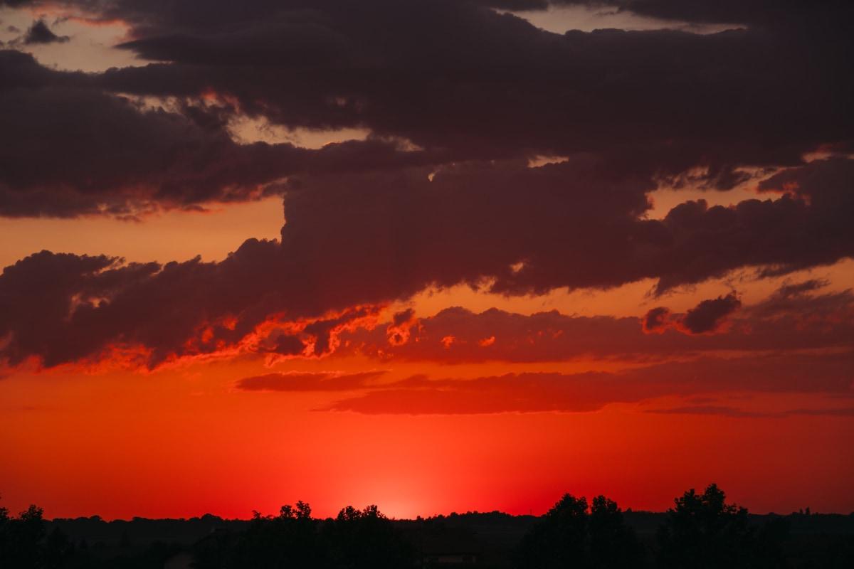 Схід сонця, Світанок, сонце, вечір, Сутінки, силует, краєвид, підсвічуванням, природа, Буря