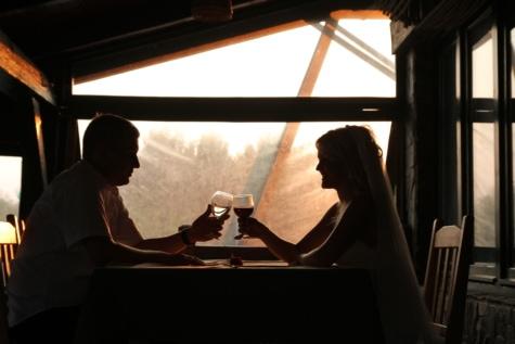 Pengantin, kenikmatan, malam, suami, Cinta, pernikahan, anggur merah, Restoran, romantis, orang-orang