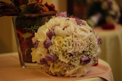 ช่อดอกไม้, โรแมนติก, ดอกกุหลาบ, ผ้าปูโต๊ะ, สีชมพู, ตกแต่ง, จัดเรียง, งานแต่งงาน, ดอกไม้, กุหลาบ