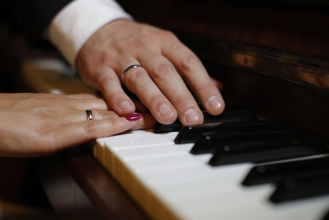 hands, romantic, touch, wedding ring, music, hand, keyboard, ivory, musician, pianist