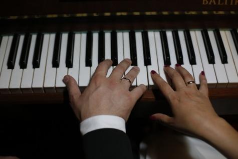 finger, hænder, musik, musiker, pianist, klaver, romantisk, samvær, opretstående, instrument