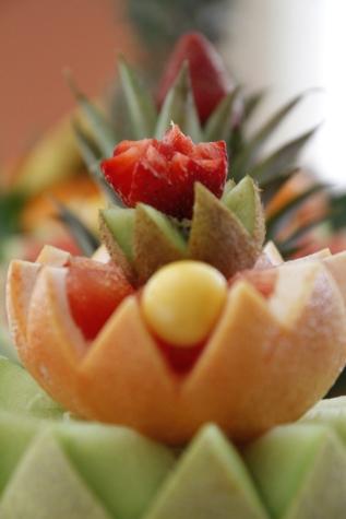 ακτινίδιο, πορτοκαλί, φλούδα πορτοκαλιού, φράουλες, τροφίμων, φρούτα, φρέσκο, φράουλα, Πλάκα, Σαλάτα