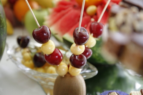 ตกแต่ง, แท่ง, ซากุระ, เชอร์รี่, หวาน, ผลไม้, ของหวาน, เบอร์รี่, อร่อย, สุขภาพ