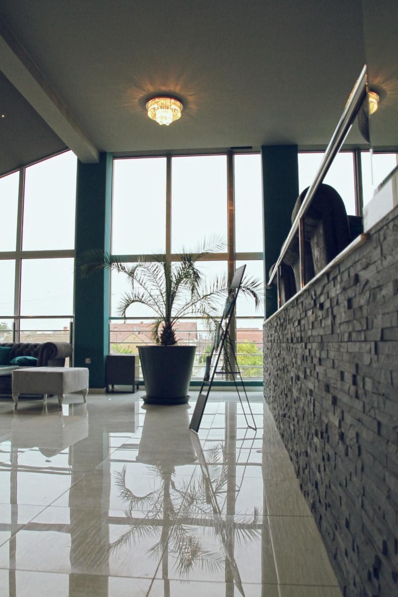 ceiling, contemporary, elegant, floor, furniture, moderator, room, structure, window, interior
