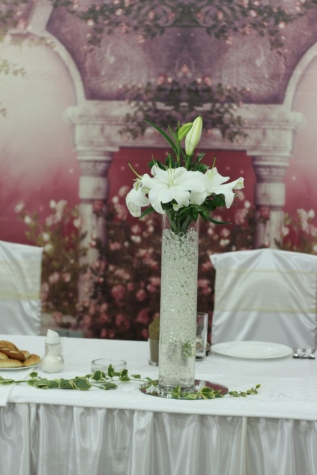 bukett, interiør, interiørdesign, lilje, vase, hvit blomst, blomster, blomst, ordningen, dekorasjon