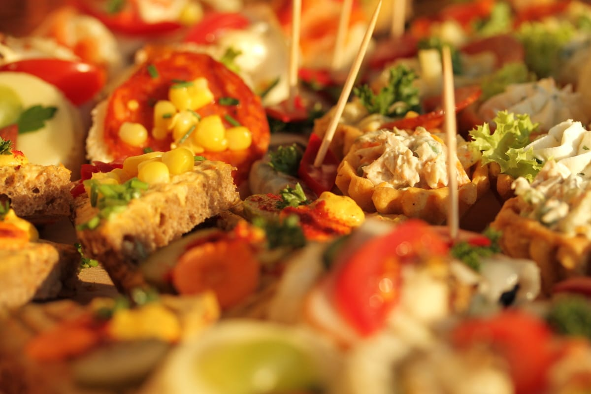 微型, 三明治, 小吃, 美味, 餐饮, 美味, 午餐, 蔬菜, 菜, 豆