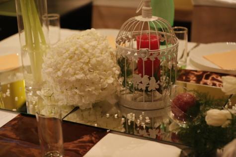 Kytica, sviečka, dekorácie, elegantné, sklo, strana, svadba, oslava, Reštaurácia, jedlo
