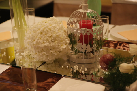buket, stearinlys, dekoration, tyylikäs, glas, part, bryllup, fest, Restaurant, måltid
