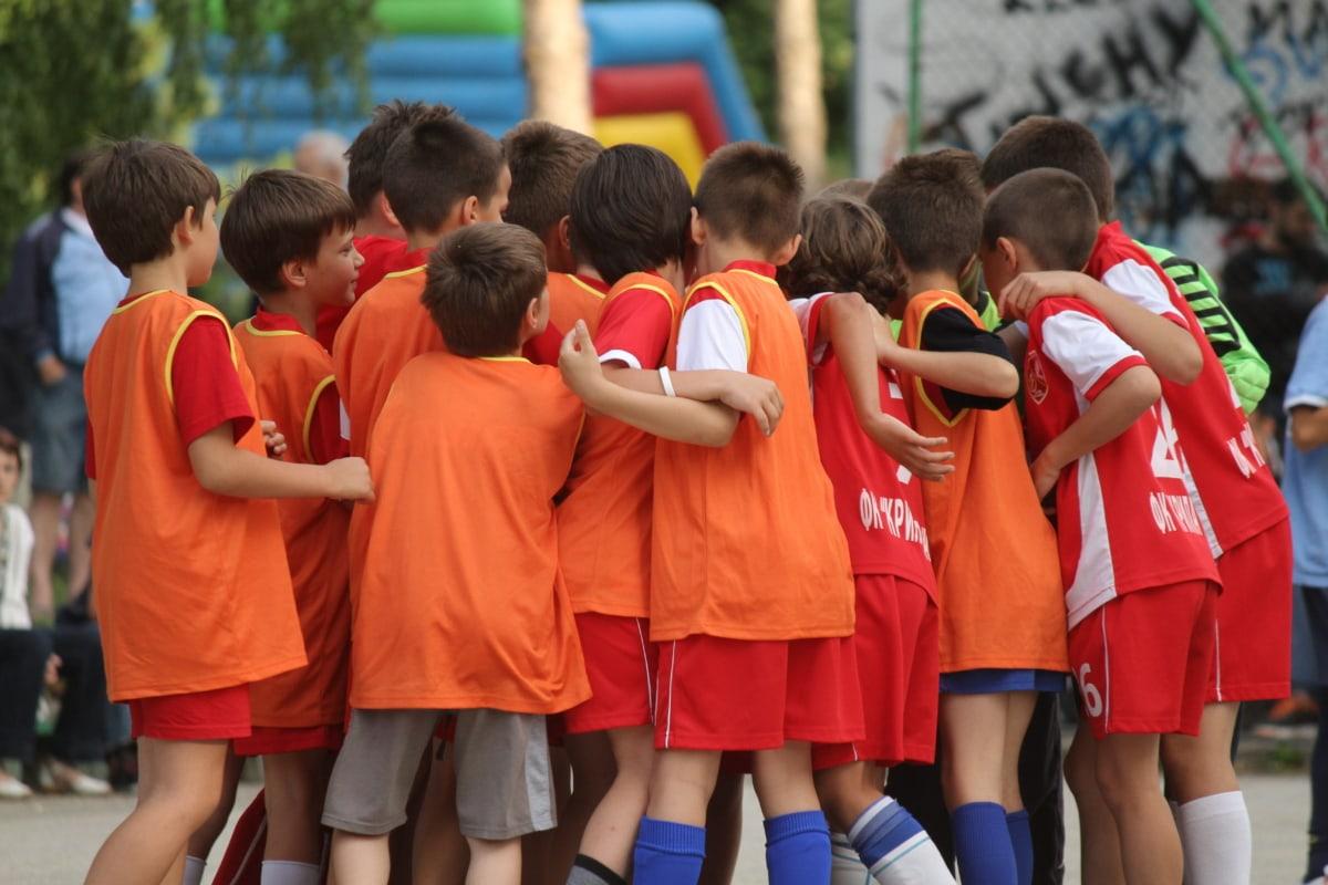 Çocukluk, Çocuk, Futbol, futbolcu, Spor, takım, Takım çalışması, Futbol, insanlar, rekabet