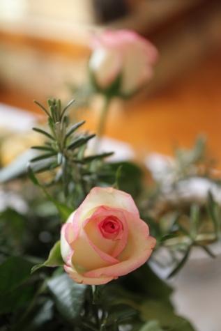 boeket, bloemblaadjes, rozemarijn, rozen, steeg, bruiloft, natuur, bloem, knop, liefde