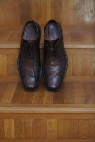 brown, casual, elegance, fashion, leather, light brown, parquet, shoes, staircase, footwear