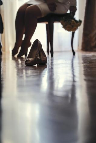 ceremonie, hakken, bruid, vervagen, vrouw, mode, meisje, reflectie, voet, model