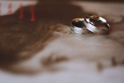 book, gold, golden glow, jewelry, wedding ring, blur, wedding, still life, love, indoors