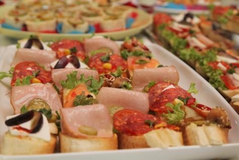 eethoek, voedsel, lunchroom, maaltijd, plantaardige, schotel, salade, heerlijke, plaat, voorgerecht