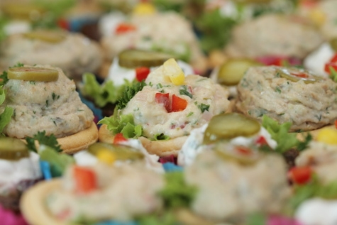 hidangan pembuka, Perjamuan, lezat, makanan, partai, Makan Siang, salad, piring, Makanan, makan malam