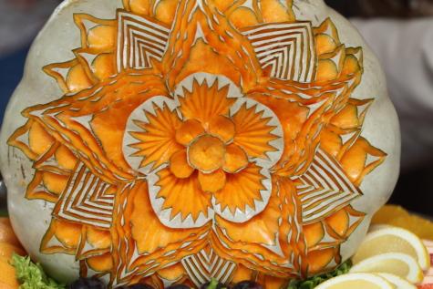 Artystyczny, rzeźby, ręcznie robione, dekoracja, Dynia, sztuka, tradycyjne, wzór, symbol, jedzenie
