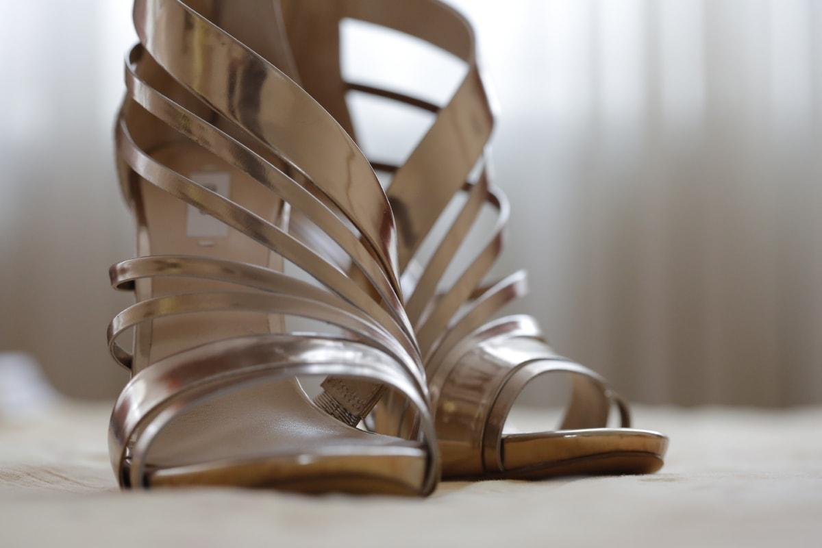 крупным планом, элегантность, очарование, каблуки, современные, пастель, Сандал, сияющий, Обувь, стиль