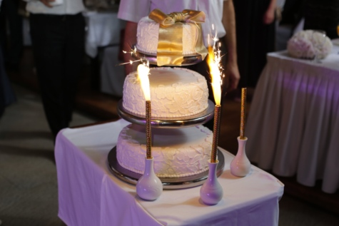 oslava, obřad, událost, strana, svatba, svatební dort, svíčka, nábytek, křeslo, sídlo