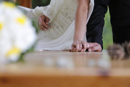 laying, leisure, relaxation, bride, groom, woman, wedding, love, engagement, blur