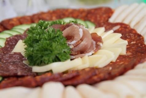 Makanan, hiasan, lezat, piring, salad, daging, piring, makan malam, Makan Siang, makanan
