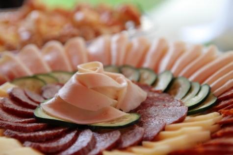 бекон, сир, огірок, Свиняча корейка, салямі, Ковбаса, закуски, їжі, обід, їжа