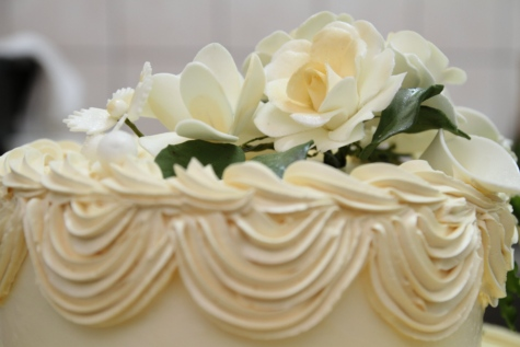 dessert, wedding cake, white, flower, bouquet, pink, rose, roses, petal, wedding