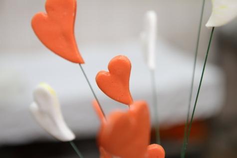 ใกล้ชิด, ตกแต่ง, หัวใจ, หัวใจ, แท่ง, ดอกไม้, กลีบ, ความรัก, เบลอ, ในที่ร่ม