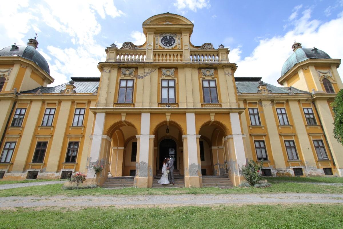 mladenka, dvorac, ulaz, fasada, imperial, ljubav, čovjek, rezidencija, romantično, kuća