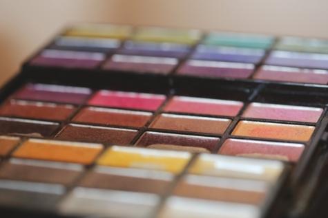 색상, 화장품, 메이크업, 파스텔, 전문, 팔레트, 창의력, 광장, 실내, 흐림