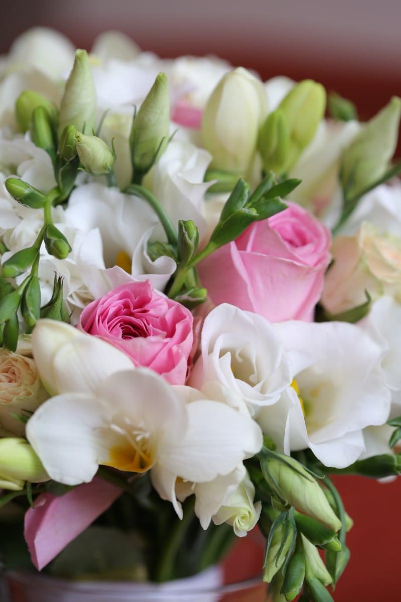 kimppu, pastelli, ruusut, valkoinen kukka, kukka, järjestely, romanssi, luonto, Rakkaus, sisustus
