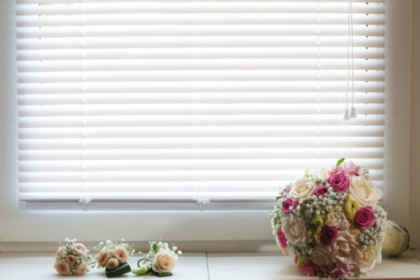 buket, romantik, pencere, eşik, çiçekler, çiçek, Düğün, dekorasyon, köşe, iç