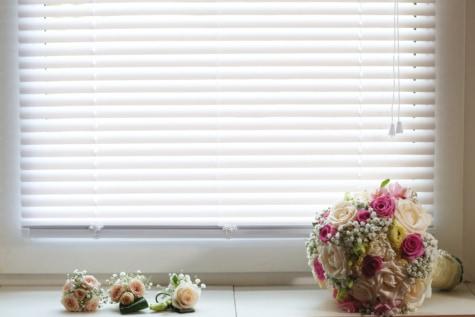 bouquet, romantic, window, sill, flowers, flower, wedding, decoration, corner, interior