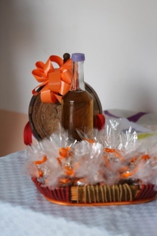 ceremony, decoration, drink, event, homemade, traditional, bottle, still life, glass, celebration