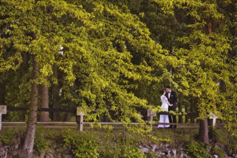 bride, fashion, forest road, groom, man, pretty girl, romance, spring time, style, park