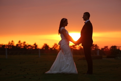 groom, sunset, dress, romance, bride, wedding, dawn, love, dusk, silhouette