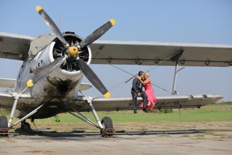 Flugzeug, Flugmotor, Freund, paar, Freundin, Liebe, romantische, Flügel, Flughafen, Luftwaffe