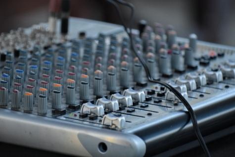 melodi, lyd, mixer, teknologi, udstyr, enhed, tastatur, forretning, musik, elektronisk