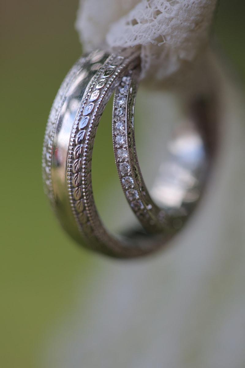 brilliant, close-up, gold, handmade, marriage, napkin, romantic, shining, wedding, wedding ring