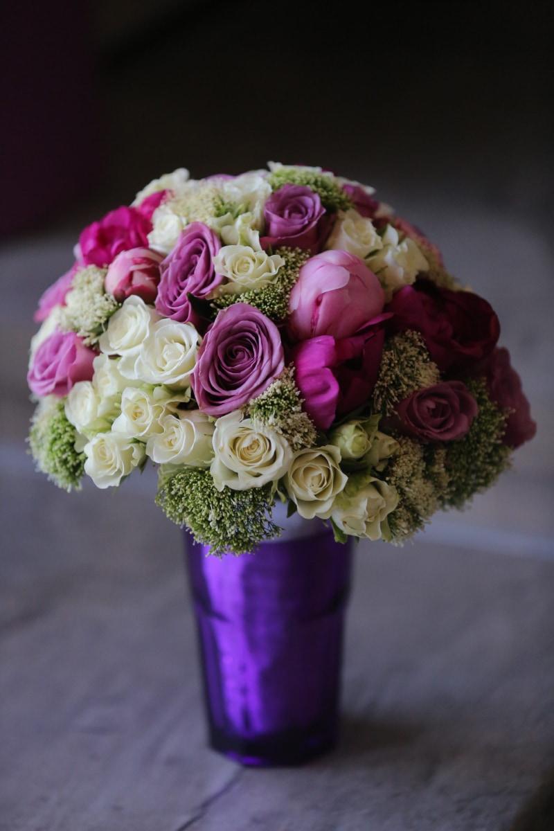 renkli, pastel, mor, buket, aşk, Düğün, düzenleme, çiçek, dekorasyon, Gül