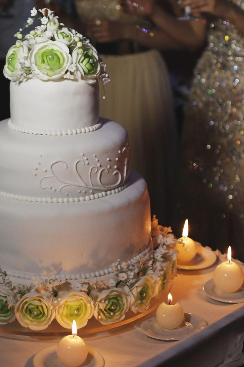 světlo svíček, svíčky, obřad, událost, svatební dort, svíčka, svatba, oslava, elegantní, design interiéru