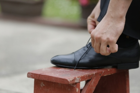 fashion, furniture, hands, leather, leisure, lifestyle, old style, outdoor, shoelace, shoes